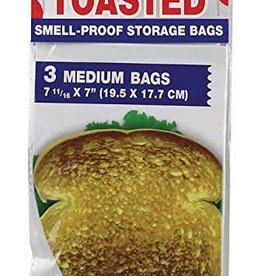StinkSack 3pc Stink Sack Toasted Smell Proof Storage Bags - Medium