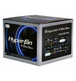 "HyperFan Hyper Fan 6"" Digital Mixed Flow Fan 315 CFM"