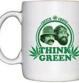 """Think Green"" Cheech & Chong 11oz Coffee Mug"