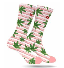 Stonerdays Boobs and Buds Cannabis Socks -Breast Cancer Awareness - M