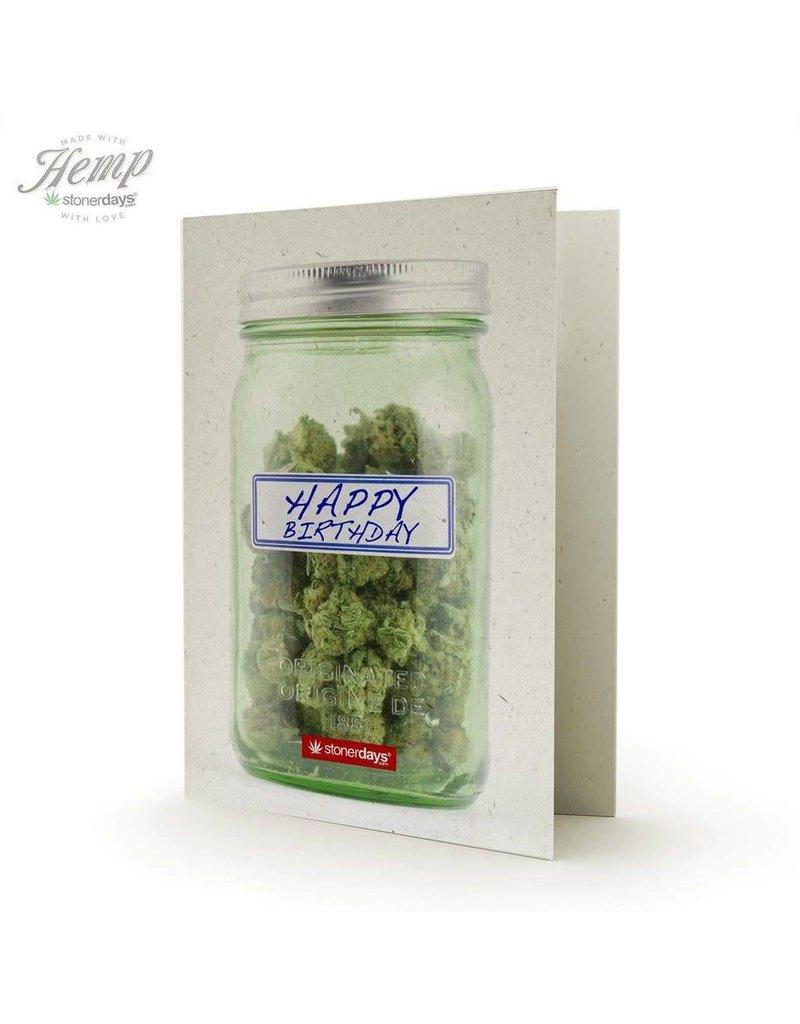 Stonerdays Happy Birthday Mason Jar - Card