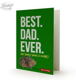 Stonerdays Best Dad Ever - Card