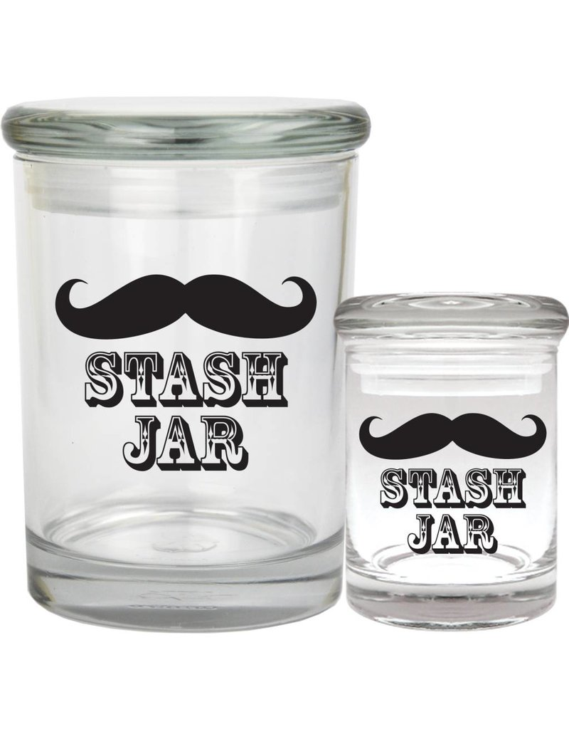 1/8oz Mustache Glass Jar