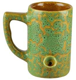 Ceramic Water Pipe Mug - 8oz - Green Glaze