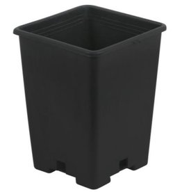 Go Pro Gro Pro Premium Anti-Spiraling Black Plastic Square Pot 7 x 7 x 9 in