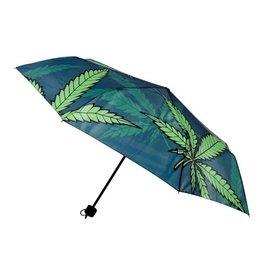 Hemp Leaf Telescopic Umbrella w/Cover-38'
