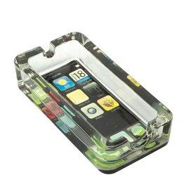 Smartphone Design Glass Ashtray