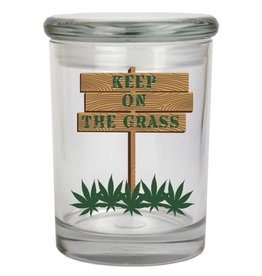 Keep On The Grass Glass Jar