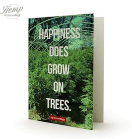 Stonerdays Happiness Does Grow On Trees -Greeting Card