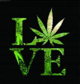 "Love Weed Plush Fleece Blanket Medium Weight 79"" x 94"""