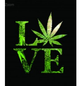 "Love Weed Plush Fleece Blanket Medium Weight 79"" x 94"""