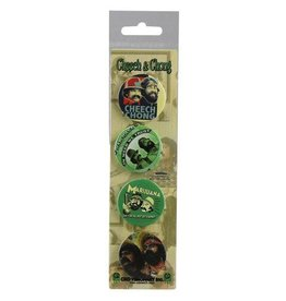 C&D Visionary inc. 4pc. Cheech & Chong Assorted Button Set