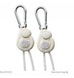 Sun Grip Push Button Light Hanger 1/8 in White - 1/Pair