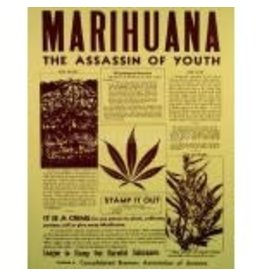 "Drugs ""The Assassin of Youth"" Sepia Print"