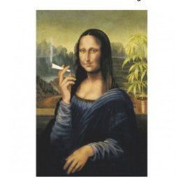 "24"" x 36"" Mona Lisa Smoking Poster"