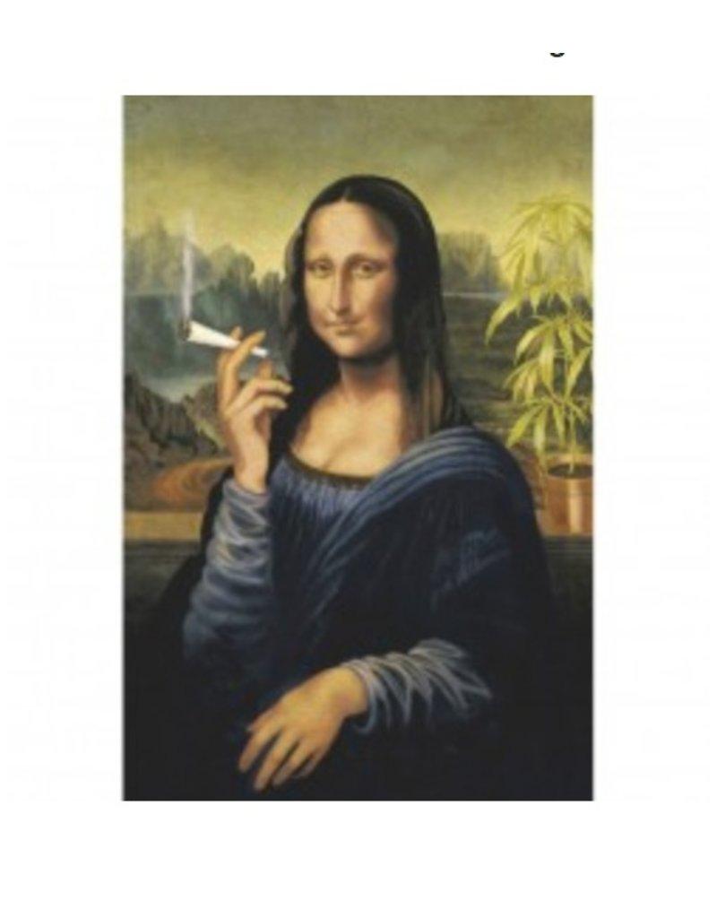 """24"""" x 36"""" Mona Lisa Smoking Poster"""