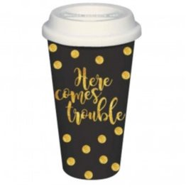 Here Comes Trouble Travel Mug - 16oz