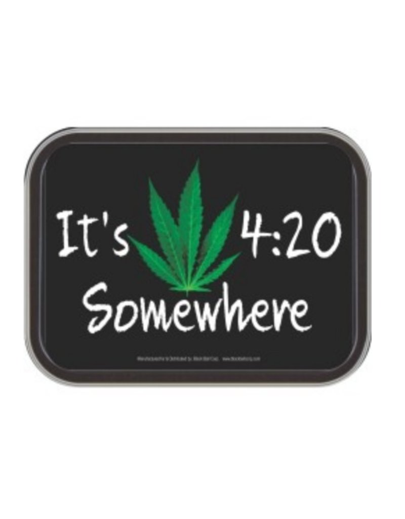 "4.5"" x 3.5"" 420 Hemp Leaf Stash Tin"