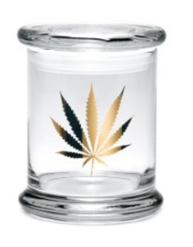 """420 Science 420 Science Glass Jar - Gold Leaf - 4.5""""/Large"""
