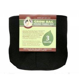 Gro Pro Gro Pro Premium Round Fabric Pot 3 Gal