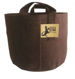 Root Pouch 10 Gal Fabric w/ Handles Boxer Brown