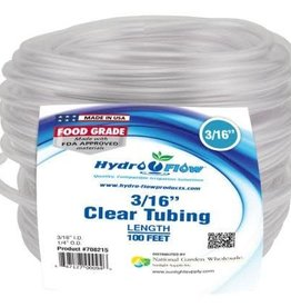 Hydro Flow Hydro Flow Vinyl Tubing Clear 3/16 in ID - 1/4 in OD 100 ft Roll