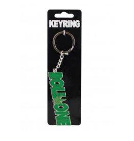 """Roll One w/ Hemp Leaf Keyring - 3.5"""" x 1"""""""