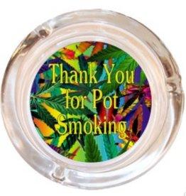 "Black Ball 4"" Thank You For... Smoking Glass Ashtray"