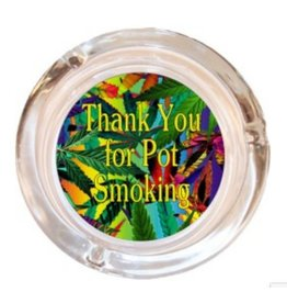 "4"" Thank You For... Smoking Glass Ashtray"