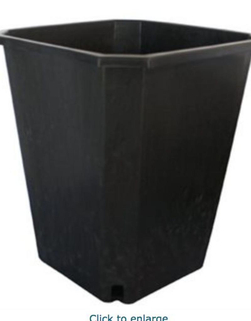 "FHD FHD 11L Square Black Pot 10"" x 10"" x 11.5"""