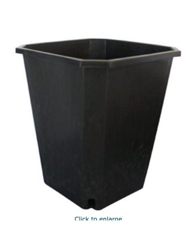 "Future Harvest FHD 11L Square Black Pot 10"" x 10"" x 11.5"""