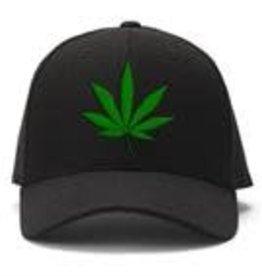 Black Ball Herbal Leaf Embroidered Ball Cap