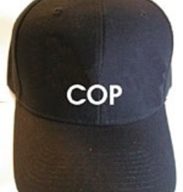 Black Ball Cop Embroidered Wool Cap