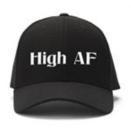 Black Ball High As F**k Embroidered Cap
