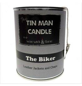 Wax Wick & Flame Tin Man Candle - Biker/ Leather Jackets & Chaps