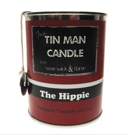 "Wax Wick & Flame Wax Wick & Flame Tin Man Candle - Hippie/Patchouli """"Summer of Love"""