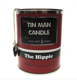 """Wax Wick & Flame Tin Man Candle - Hippie/Patchouli """"""""Summer of Love"""""""