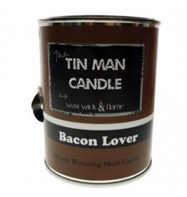 Wax Wick & Flame Wax Wick & Flame Tin Man Candle - Bacon Lover/ Mouth Watering Meat Candy