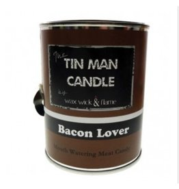 Wax Wick & Flame Tin Man Candle - Bacon Lover/ Mouth Watering Meat Candy