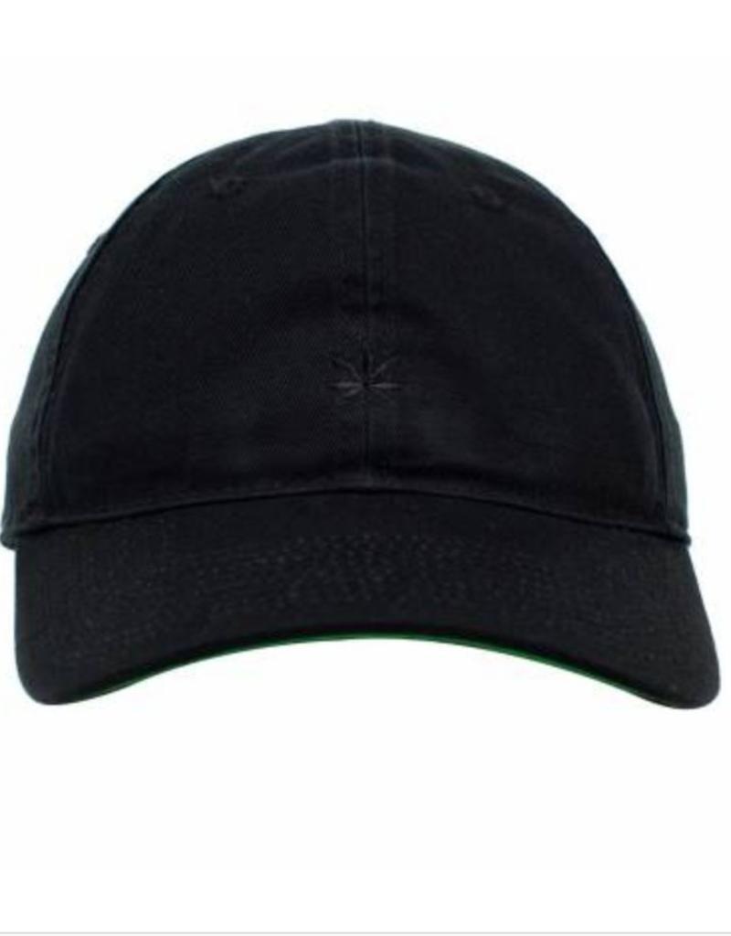 bda7605a89b41 No Bad Ideas - Leaf Olive - Dad Hat Black w  Black Leaf - Green Corner