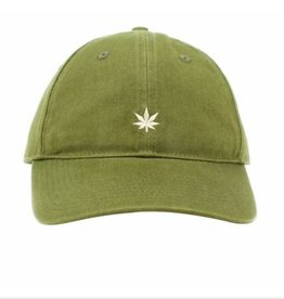 No Bad Ideas No Bad Ideas - Leaf Olive - Dad Hat Olive w/ White Leaf