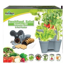 PlantBest Fresh Food 6 Pot Planter Kit - Salad Kit