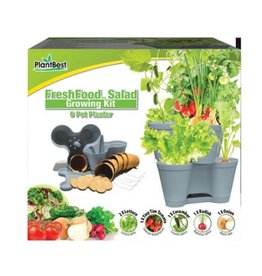 PlantBest Fresh Food 6 Pot Planter Kit - Salad Kit