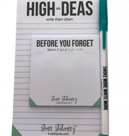 Kushcards Stoner Stationary - High Ideas Set