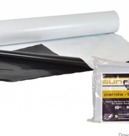 sunfilm Sunfilm Black & White Panda Poly Film 10ft x 10ft Folded & Bagged