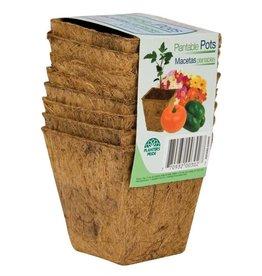 "Planters Pride HC 3"" Sq Fiber Grow Coco Coir Pots"