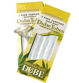 DubeTubes Smuggle Your Booze - Doob Tubes - 5 Smell Proof Tubes w/ 5 Tampon Wrappers