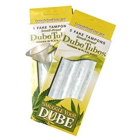 Doob Tubes Smuggle Your Booze - Doob Tubes - 5 Smell Proof Tubes w/ 5 Tampon Wrappers