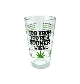 Stonerware Stonerware Pint Glass - You Know You're A Stoner When...