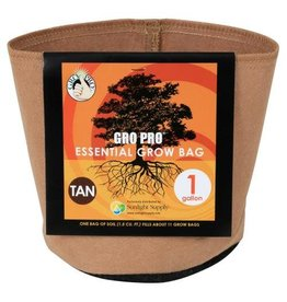 Gro Pro Gro Pro Essential Round Fabric Pot - Tan 1 Gallon
